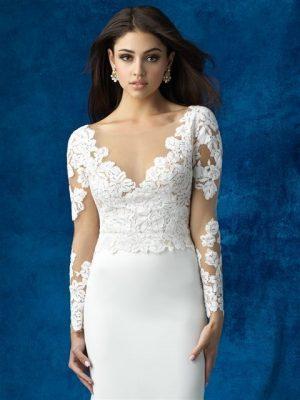 Silver Sheath Wedding Dress