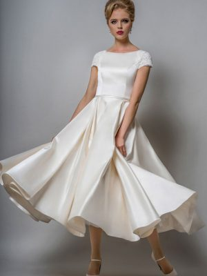 Boat Neck Neckline Helena Fortley Bridal Boutique,Audrey Hepburn Wedding Dress 1955